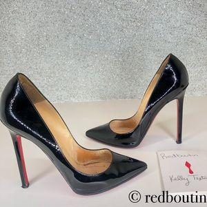 👠FIRM👠 Louboutin Pigalle black patent pumps 36